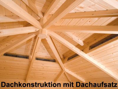Weka Gartenhaus 28mm 149A 5-Eck Gr. 2 natur Dachaufs. 380x380cm Bild 2