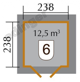 Weka Gartenhaus 28mm 177 Gr. 1 natur 318x318cm Bild 2