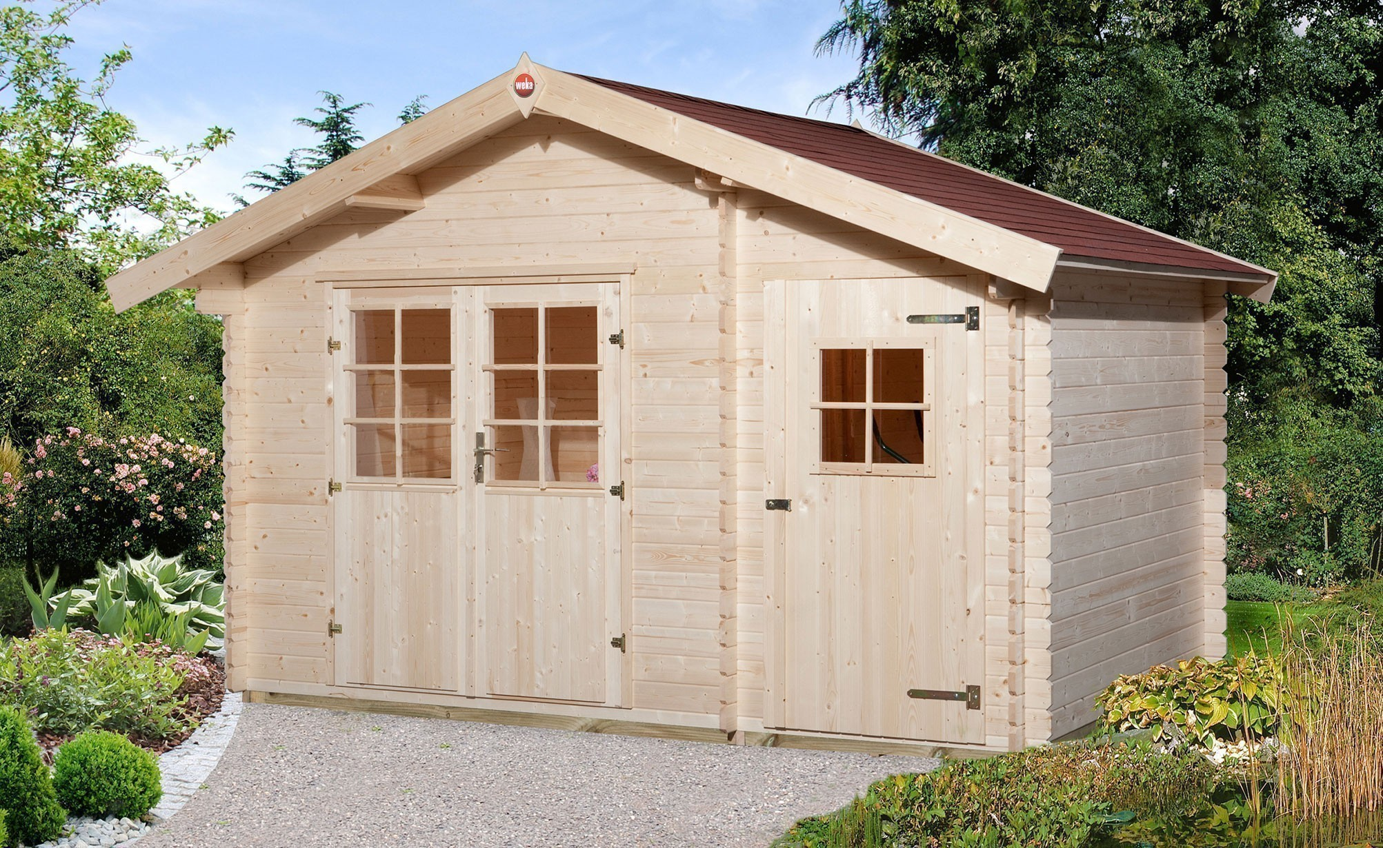 Weka Gartenhaus 28mm 253 Gr. 1 natur 420x260cm Bild 1