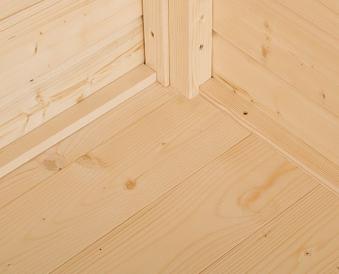 Fußboden 19mm natur für Weka Gartenhaus 240x205cm