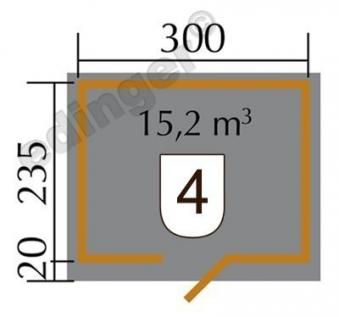 Weka Gartenhaus 28mm 260 Gr. 2 natur 355x277cm Bild 2