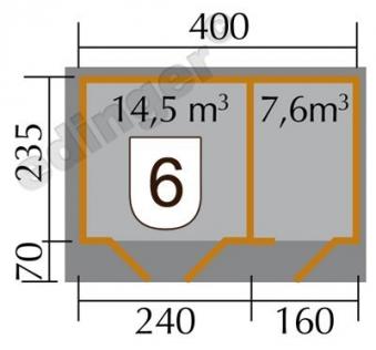 Weka Gartenhaus 28mm 261 Gr. 1 natur 460x320cm Bild 2