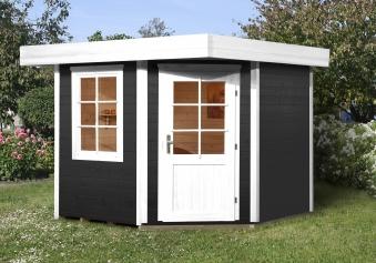 Weka Gartenhaus 28mm Designhaus 213 Gr. 1 anthrazit 278x278cm VD 50cm Bild 1