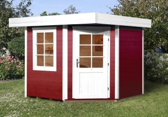Weka Gartenhaus 28mm Designhaus 213 Gr. 1 rot 278x278cm VD 50cm Bild 1