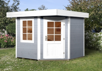 Weka Gartenhaus 28mm Designhaus 213 Gr. 2 grau 338x338cm VD 50cm Bild 1