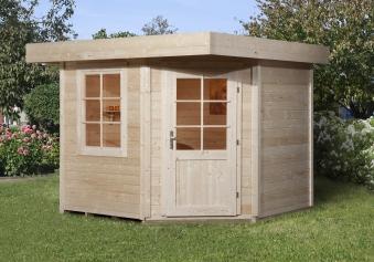 Weka Gartenhaus 28mm Designhaus 213 Gr. 2 natur 338x338cm VD 50cm Bild 1