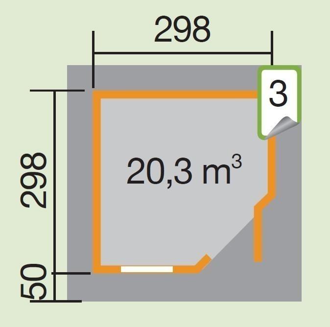 Weka Gartenhaus 28mm Designhaus 213 Gr. 2 rot 338x338cm VD 50cm Bild 2
