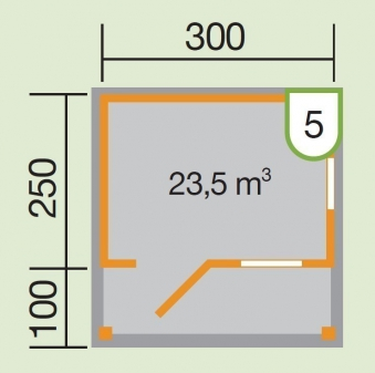 Weka Gartenhaus 820 Gr.2  340x400cm VD 100cm Bild 2