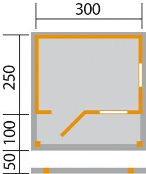 Weka Gartenhaus 820A Gr.2 natur 320x370cm VD 100cm Bild 2