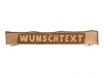 Schild mit individuellem Text Weka Massivholz 185x23cm
