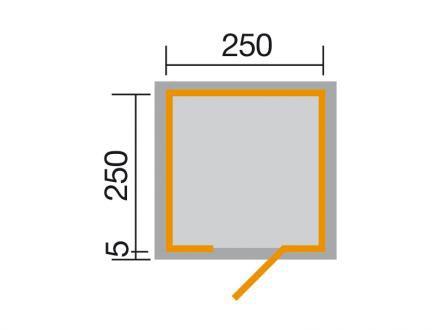 Weka Gartenhaus Designhaus wekaLine 413 Gr.1 anthrazit 260x260cm Bild 2