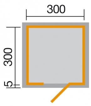 Weka Gartenhaus Designhaus wekaLine 413 Gr.2 natur 310x310cm Bild 2