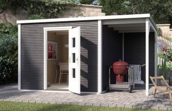 Weka Gartenhaus Designhaus wekaLine 413A Gr.1 anthrazit 410x260cm Bild 1