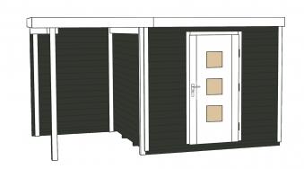 Weka Gartenhaus Designhaus wekaLine 413A Gr.1 anthrazit 410x260cm Bild 3