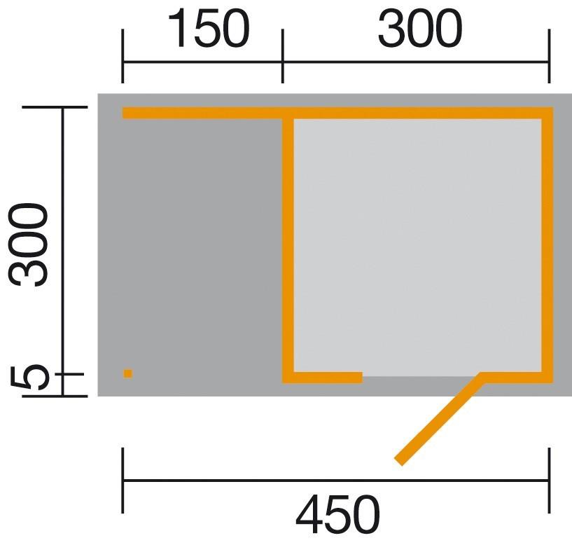 Weka Gartenhaus Designhaus wekaLine 413A Gr.2 anthrazit 460x310cm Bild 2