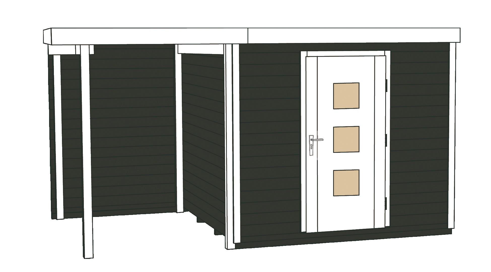 Weka Gartenhaus Designhaus wekaLine 413A Gr.2 anthrazit 460x310cm Bild 3