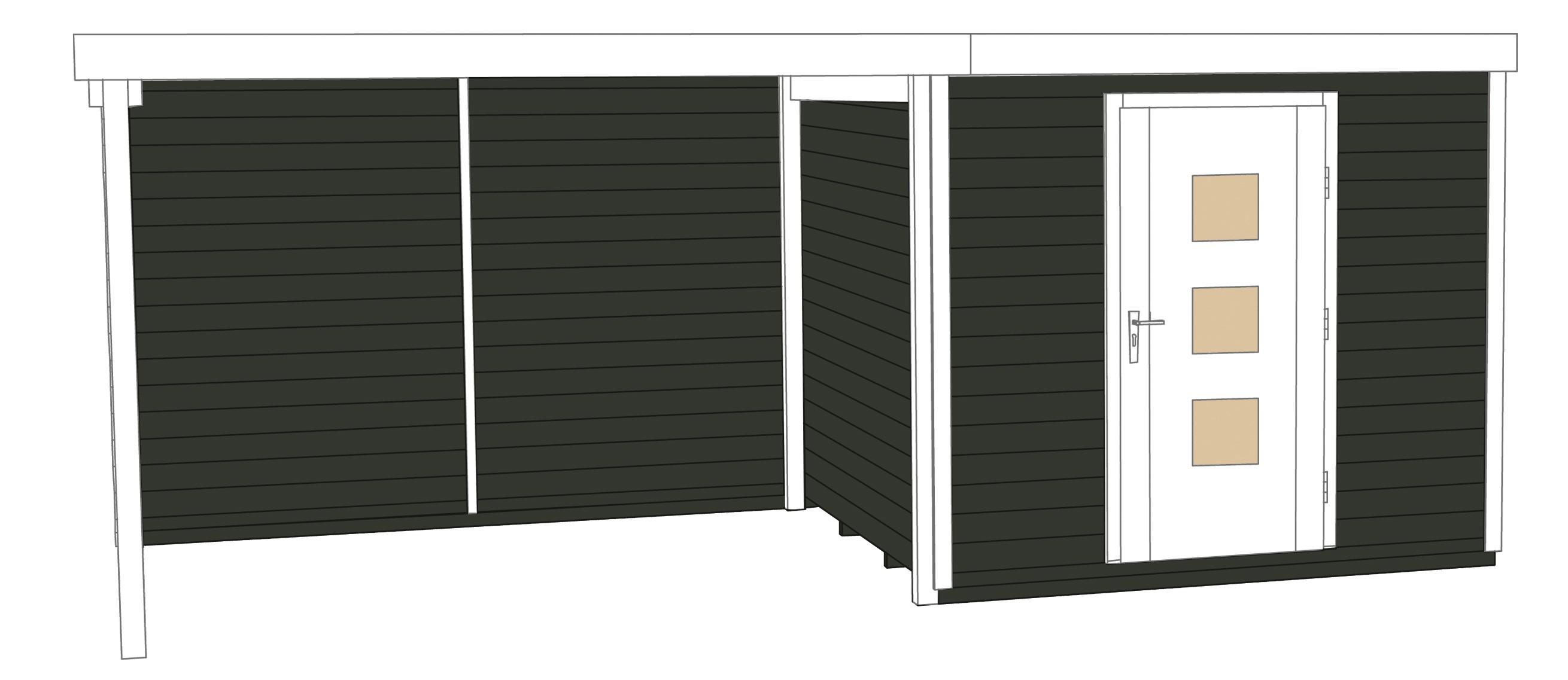 weka gartenhaus designhaus wekaline 413b gr 1 anthrazit 556x260cm bei. Black Bedroom Furniture Sets. Home Design Ideas