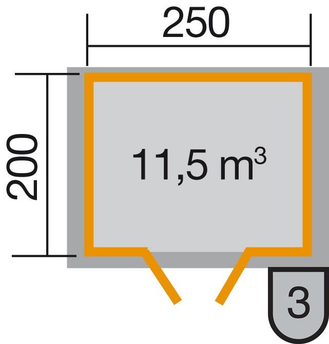 Weka Gartenhaus Premium28DT Gr. 1 natur 300x230cm Bild 2