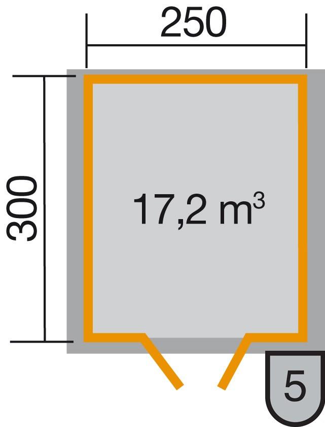 Weka Gartenhaus Premium28DT Gr. 3 natur 300x330cm Bild 2