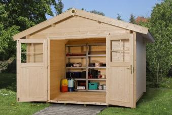 Weka Gartenhaus Premium28DT Gr. 3 natur 300x330cm Bild 4