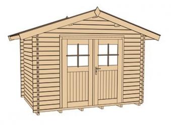 Weka Gartenhaus Premium28DT Gr. 5 natur 380x280cm Bild 3