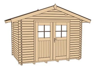 Weka Gartenhaus Premium28DT Gr. 6 natur 380x330cm Bild 3