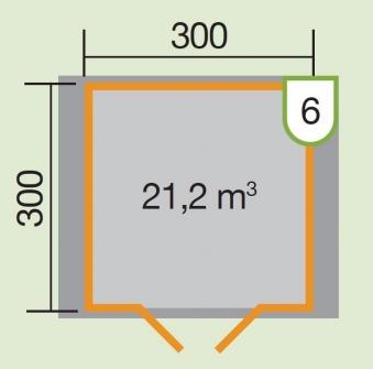 Weka Gartenhaus Premium28DT Gr. 6 natur 380x330cm Bild 2