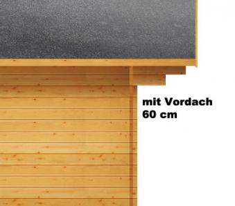 Weka Gartenhaus Premium28DT mit Vordach Gr. 3 natur 380x320cm Bild 3