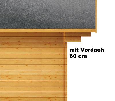 Weka Gartenhaus Premium28DT mit Vordach Gr. 4 natur 380x370cm Bild 3