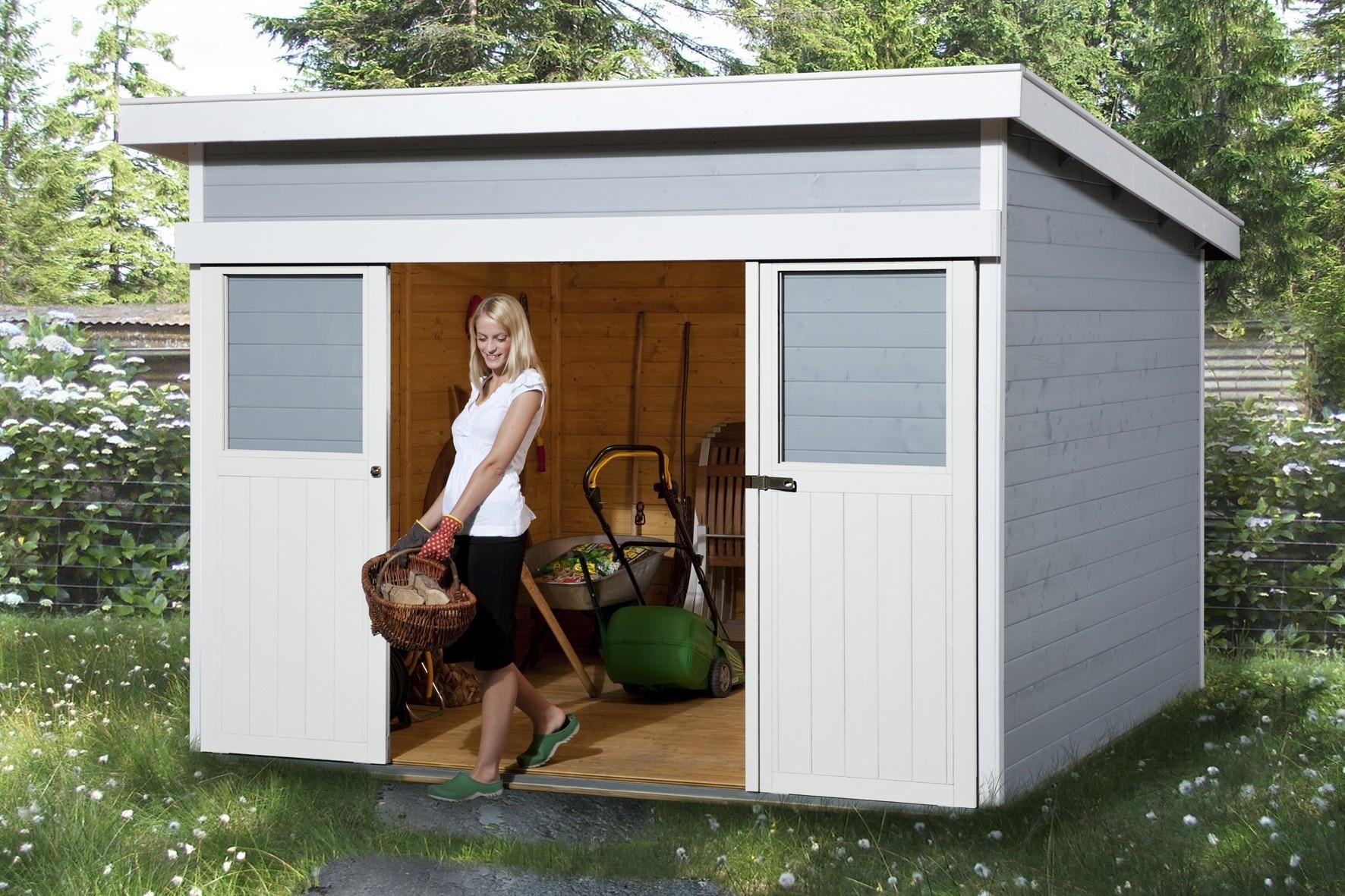 gartenhaus schiebet r nornabaeli. Black Bedroom Furniture Sets. Home Design Ideas