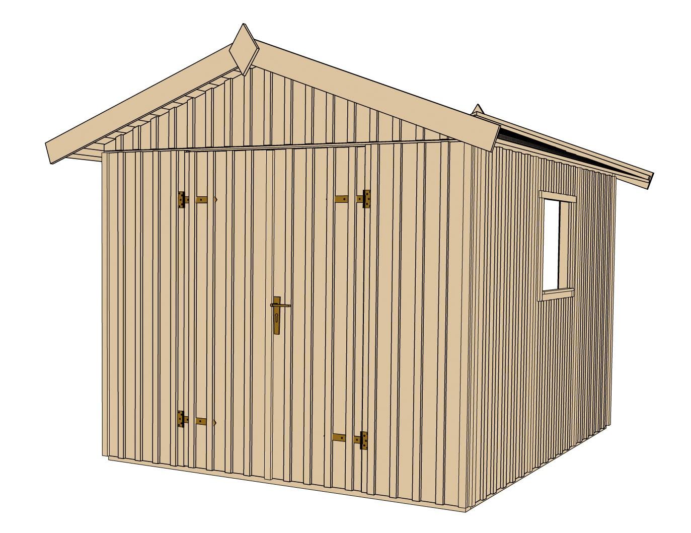 Weka Gerätehaus 16 mm Schwedenhaus 349 Gr. 3 natur 277x286cm Bild 3