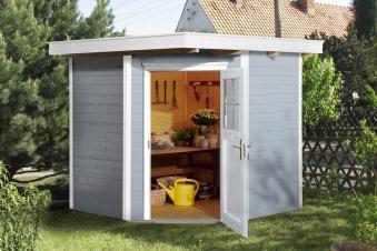 Weka Gerätehaus 19mm Gartenhaus 229 Gr. 1 grau 244x244cm Bild 1