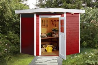 Weka Gerätehaus 19mm Gartenhaus 229 Gr. 1 rot 244x244cm Bild 1
