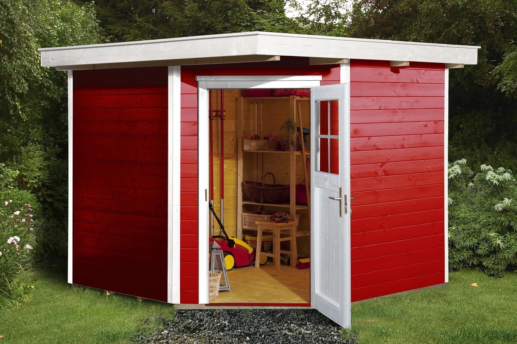 Weka Gerätehaus 19mm Gartenhaus 229 Gr. 2 rot 270x270cm Bild 1