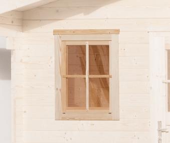 Gartenhausfenster für Wandstärke 21 - 28 mm natur 69x79cm