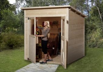 Weka Gerätehaus 19mm Gartenhaus 325 Gr. 1 natur 222x198cm Bild 1