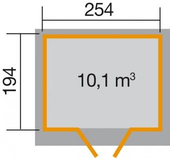 Weka Gerätehaus 19mm Gartenhaus 325 Gr. 3 natur 278x243cm Bild 2