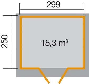Weka Gerätehaus 19mm Gartenhaus 325 Gr. 4 natur 323x299cm Bild 2