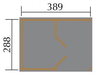 Weka Gerätehaus 20 mm Lagerhaus 607 Variante 1 kdi 410x304cm Bild 2