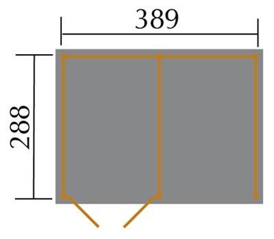 Weka Gerätehaus 20 mm Lagerhaus 607 Variante 2 kdi 410x304cm Bild 2