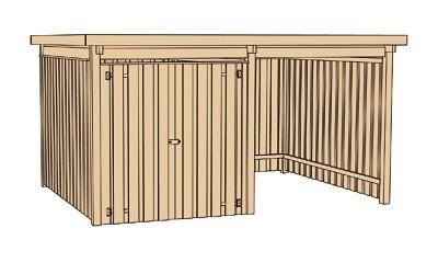 Weka Gerätehaus 20 mm Lagerhaus 607 Variante 2 kdi 410x304cm Bild 3