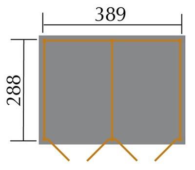 Weka Gerätehaus 20 mm Lagerhaus 607 Variante 3 kdi 410x304cm Bild 2