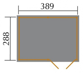 Weka Gerätehaus 20 mm Lagerhaus 607 Variante 4 kdi 410x304cm Bild 2