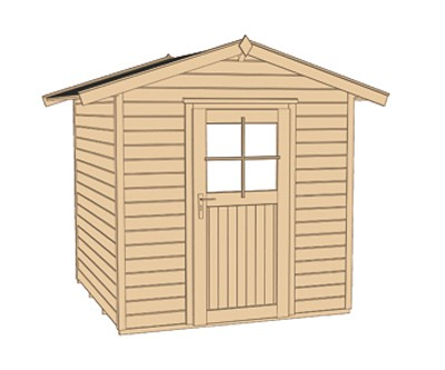 Weka Gerätehaus 21 mm Gartenhaus 223 1 rot 260x174cm Bild 3