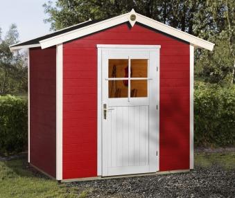 Weka Gerätehaus 21 mm Gartenhaus 223 1 rot 260x174cm Bild 1