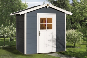 Weka Gerätehaus 21 mm Gartenhaus 223 Gr. 1 anthrazit 260x174cm Bild 1