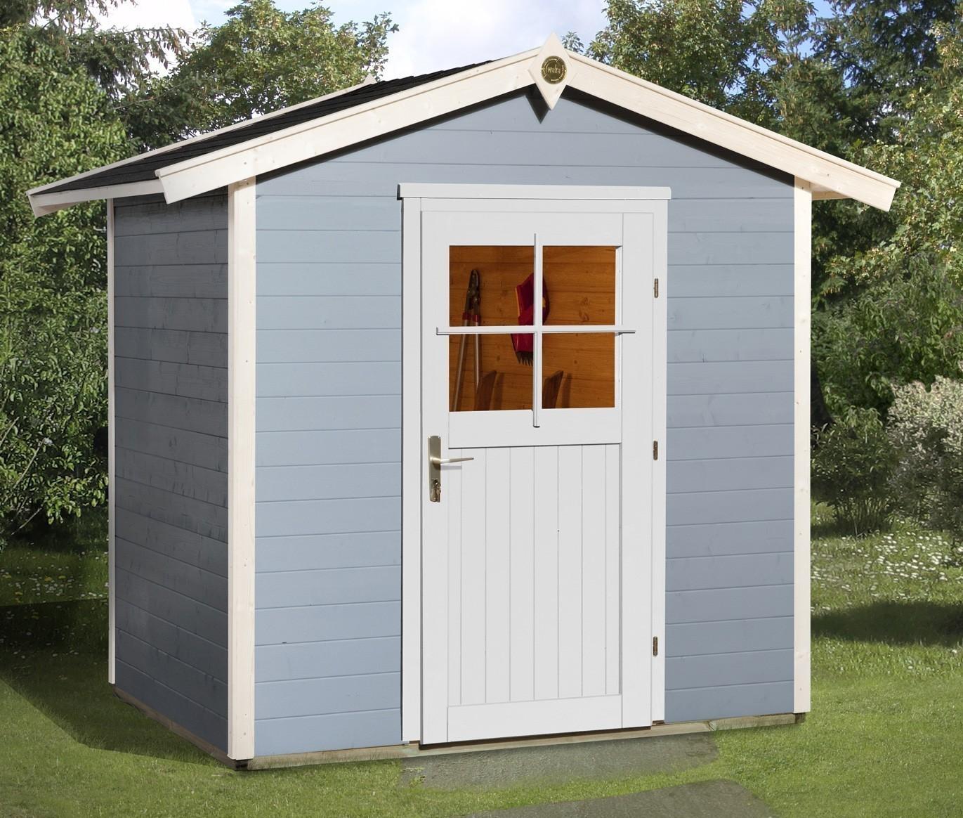 Weka Gerätehaus 21 mm Gartenhaus 223 Gr. 1 grau 260x174cm Bild 1