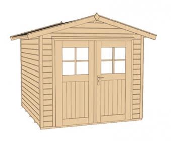 Weka Gerätehaus 21 mm Gartenhaus 224 Gr. 2 rot 280x229cm Doppeltüre Bild 3