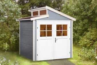 Weka Gerätehaus 21 mm Gartenhaus 226 Gr. 1 grau 235x229cm Bild 1