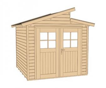 Weka Gerätehaus 21 mm Gartenhaus 226 Gr. 1 grau 235x229cm Bild 3